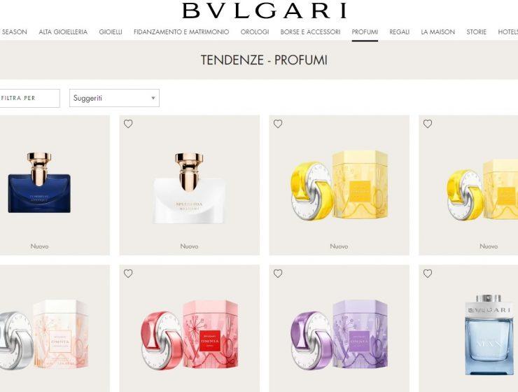 BVLGARI, L'E-COMMERCE SI ESPANDE ALLE FRAGRANZE