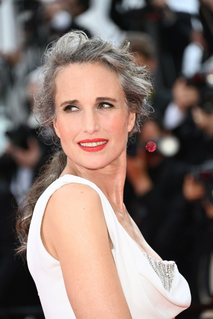 Andie MacDowell red carpet Cannes